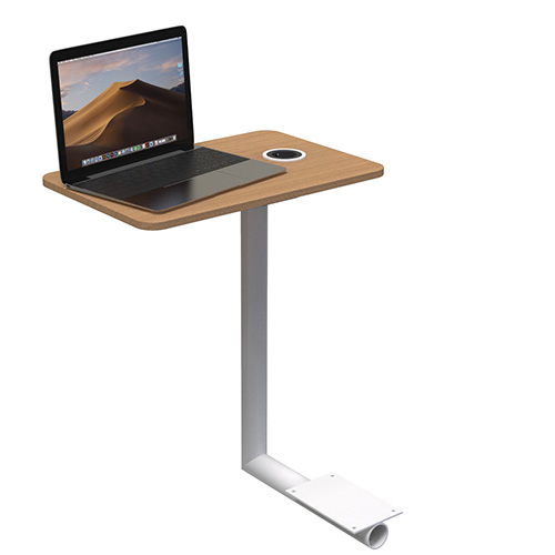 Work table for sofa touch screen floor stand