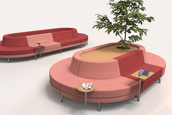 Modular commercial sofa