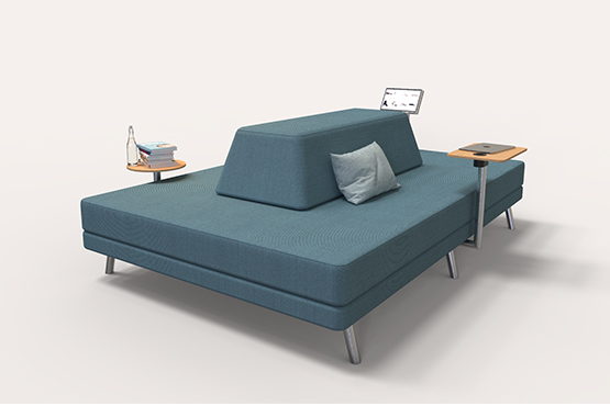 Plain sofa for public spaces commercial furniture