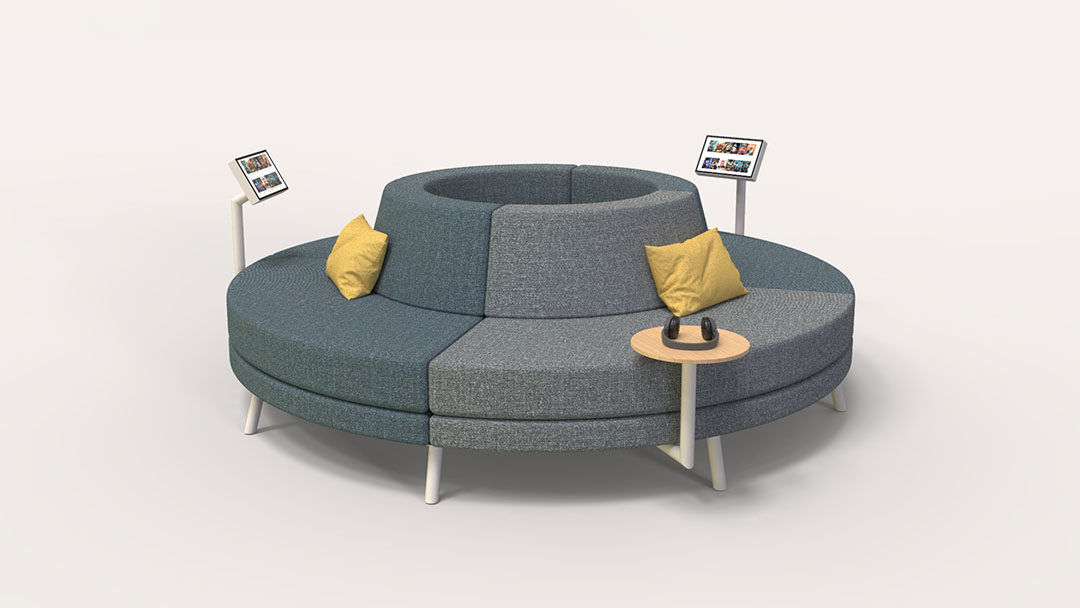 Sensational Round Sofa Addon Furniture Commercial Seating Uwap Interior Chair Design Uwaporg