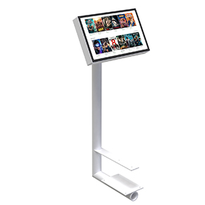Touchscreen holder add-on sofa seating furniture commercial waiting room public spaces