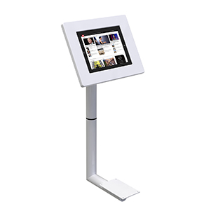 Commercial furniture tablet holder ideal for stands exhibition informing visitors