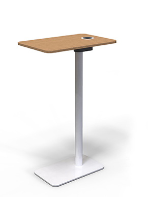 Work table add-on for contract furniture