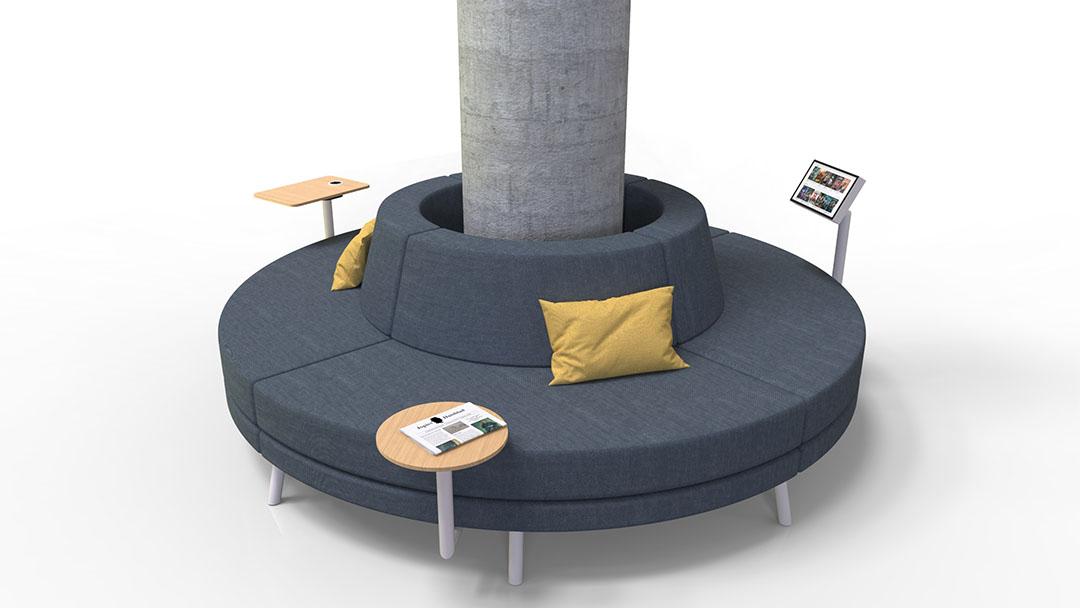 Round Sofa Column