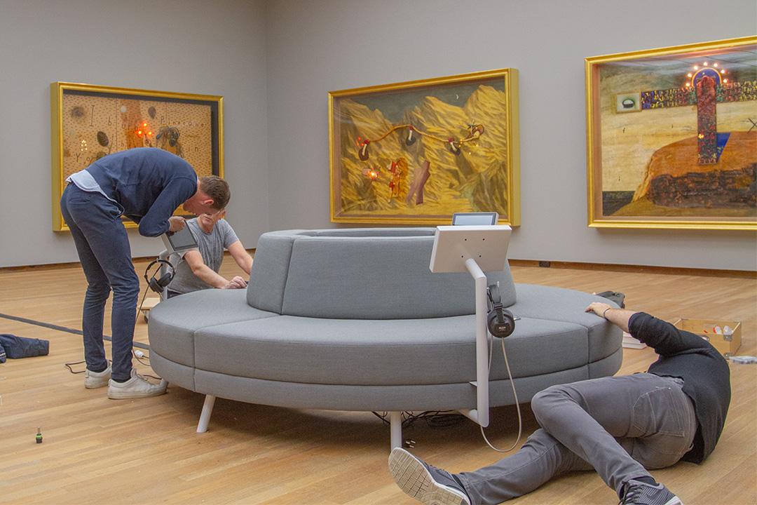 Sustainable furniture making Round Sofa