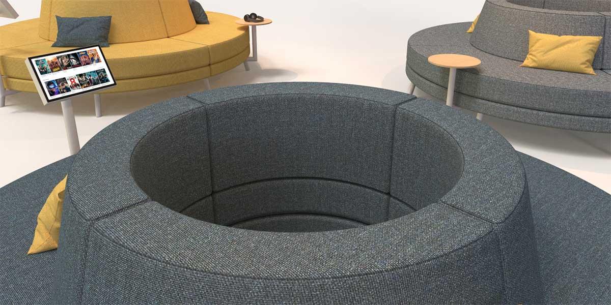 round lobby sofa